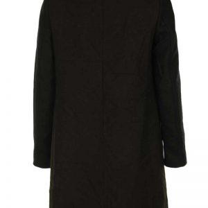 Palton dama de la ZARA, maro cu insertii bej (Duran)