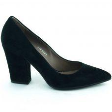 Pantofi piele intoarsa, toc 9cm, office
