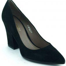 Pantofi piele intoarsa toc 9cm, business