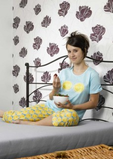 Pijama fete 100% bumbac, model Two lemons