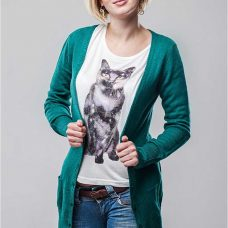 Pulover lung dama cardigan