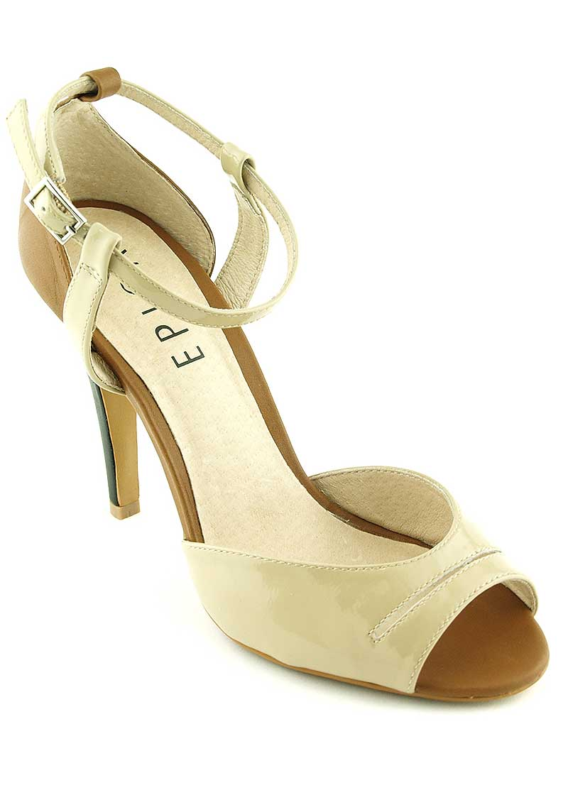 Reduceri Sandale dama, bej, toc 10.5cm