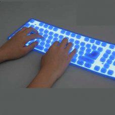 Tastatura flexibila iluminata, din silicon : ReduceriOferte.com
