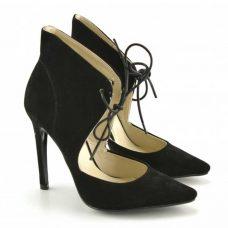 Pantofi dama Fero, negri, toc 11cm sexy