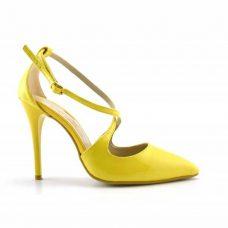 Pantofi galbeni dama toc 11cm Antos