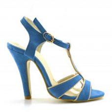 Sandale albastre dama cu toc 11cm Caryn