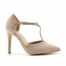 Sandale bej dama toc 10cm Borum