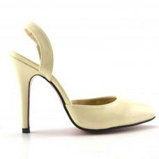 Sandale bej ieftine de dama toc 10cm