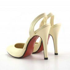 Sandale bej ieftine cu toc 10 cm, de dama ReduceriOferte.com