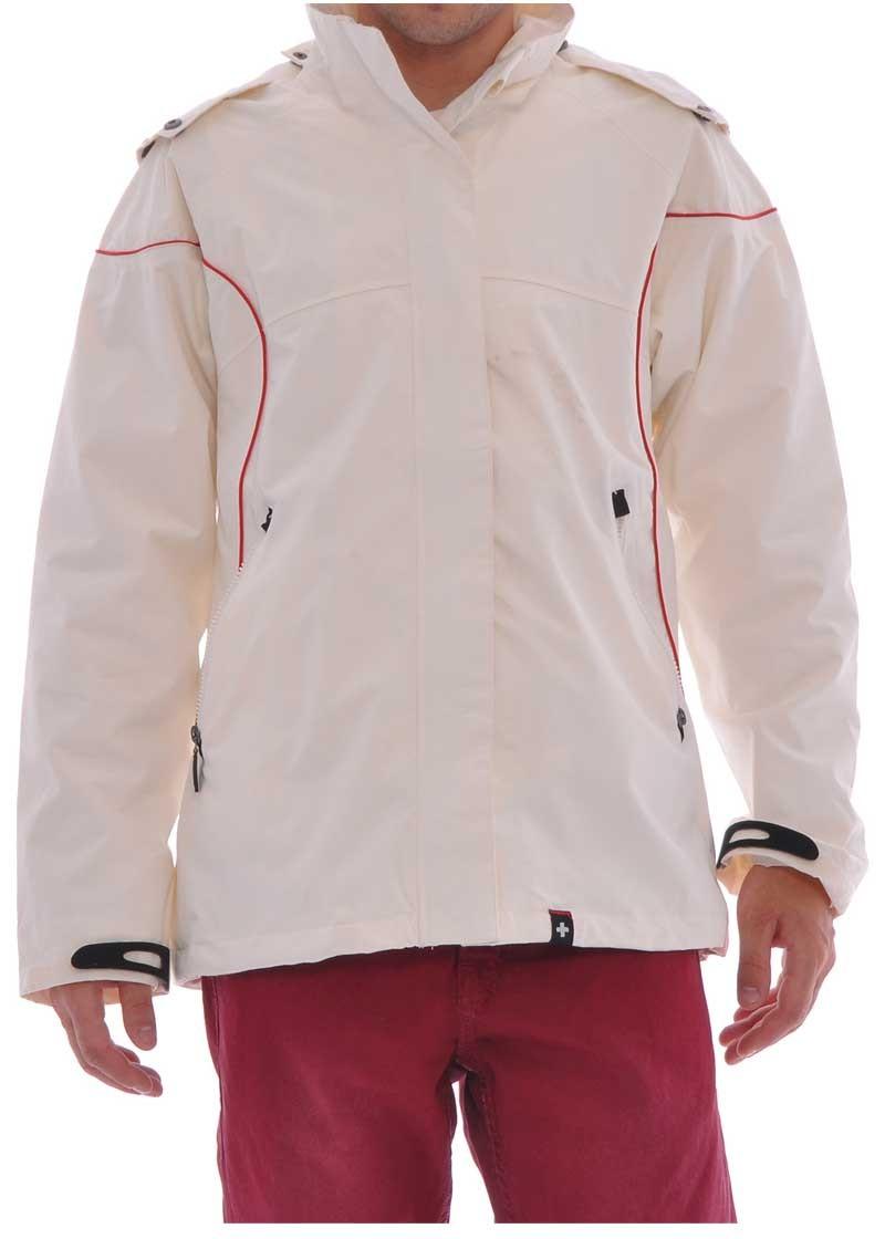 Jacheta cu fermoar pentru barbati alba, la reducere