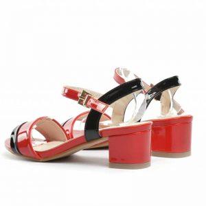 Sandale dama rosii Decona toc